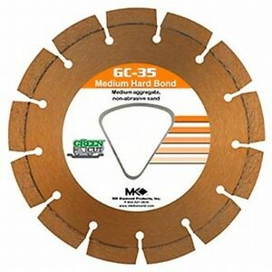 Mk Diamond Early Entry Diamond Blade 6 3 8 Medium Aggregate