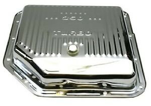Th M 350 350c New Steel Chrome Transmission Oil Pan Shallow Type With Drain Plug