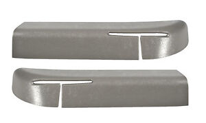 1990 1993 Mustang Convertible Seat Safety Belt Feed Feeder Bezels Pair Grey