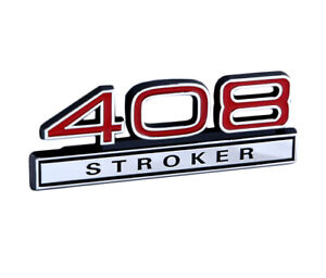 Ford Mustang Red Chrome 408 Stroker Emblem