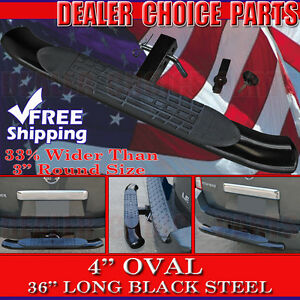 4 Oval Black Painted Hitch Step 36 Long Bumper Guard Fits 2 Receivers