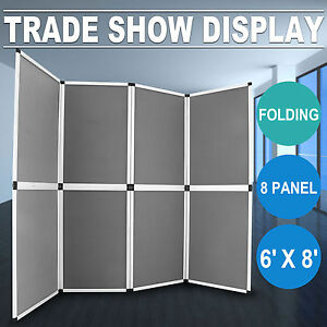 6 X8 Folding 8 Panels Trade Show Display Booth Portable Backdrop Banner Stand