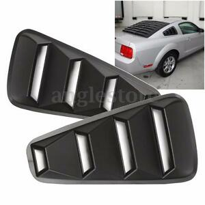 Pair 1 4 Quarter Side Window Louvers Scoop Cover Vent For 05 14 Ford Mustang Us