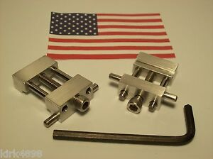 Set Of 2 Machinist Tool Vise Stops For Cnc Or Manual Mill Vise Low Profile
