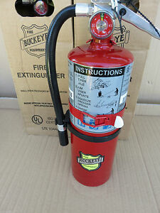 New 5 lb abc 3a 40 bc Fire Extinguisher 2021 Certified W vehicle Bracket Sign
