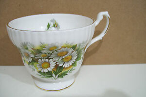 Royal Dover Fine Bone China England Yellow Floral Cup No Saucer