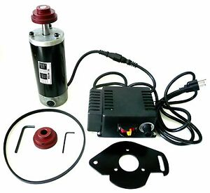 1 2 Hp Variable Speed Dc Drive Kit Motor Control Pulleys Belt 750 5415 Rpm New