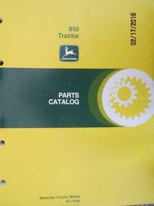 John Deere 950 Tractor Parts Manual Catalog Book Factory Original