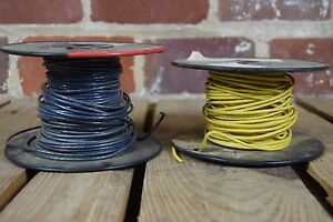 Lot Of Two 100 Feet 14 Awg Stranded Copper Wire Spools