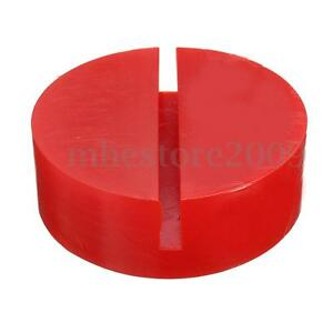 Universal Red Floor Jack Disk Pad Adapter For Pinch Weld Side Lift Rubber Disk