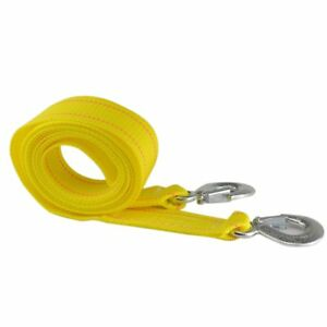 3m Car Emergency Tow Cable 3 Tons Heavy Duty Towing Pull Rope Strap With Hooks