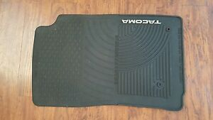 toyota tacoma rubber floor mats oem new and used auto. Black Bedroom Furniture Sets. Home Design Ideas