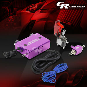 Electronic Dual Stage Purple Manual Turbo Boost Controller launch Switch hose