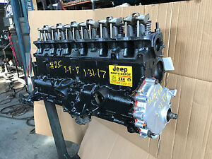 1987 89 Jeep Wrangler Yj Motor 4 2l Engine Amc Rebuilt Warranty Remanufactured