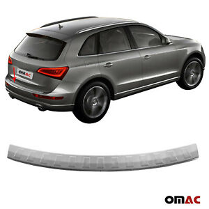 Fits Audi Q5 2009 2017 Chrome Rear Bumper Guard Trunk Sill Protector Brushed