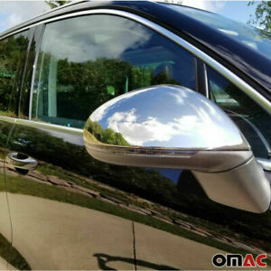 Fits Vw Touareg 2011 2017 Chrome Side Mirror Cover Cap 2 Pcs Stainless Steel