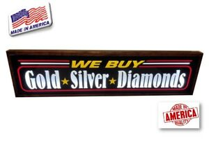 We Buy Gold Sign silver diamond Led Light Box Signs