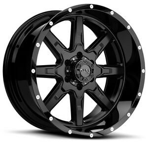 22 Inch 22x10 Tuff T15 Black Milled Wheel Rim 6x5 5 6x139 7 19