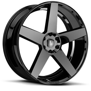 26 Inch 26x10 Status S839 Gloss Black Wheel Rim 5x4 5 5x114 3 15