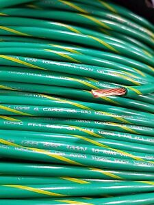 Mtw Machine Tool Primary 10 Gauge Green yellow Copper Stranded Ground Wire 500