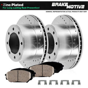 Front Rotors And Ceramic Pads For 2012 2013 Chevy Silverado Gmc Sierra 2500 3500