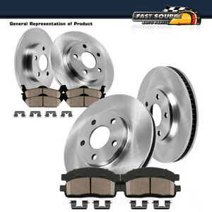 Front Rear Brake Rotors Ceramic Pads For 2011 2012 2013 Ford Edge Lincoln Mkx