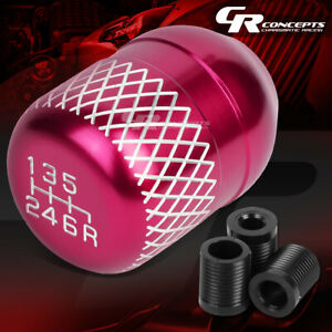 M10 M12 6 Speed Mt Manual Racing Aluminum Short Throw Shifter Pink Knob Reverse
