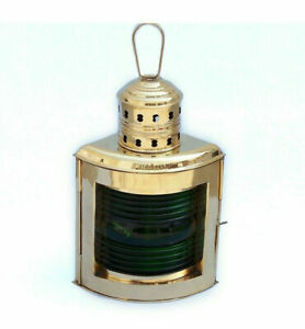 Ship S Running Light Oil Lamp Starboard Green 16 Copper Nautical Decor New