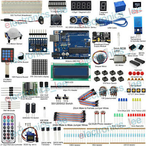 Uctronics Ultimate Kit For Arduino Uno R3 Servo Sensor Lcd1602 w Free Sd Card