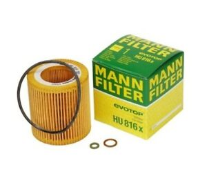 Mann Oil Filter Hu816x Bmw 07 17 1 3 5 6 7 X1 X3 X5 X6 Z4 See Fitment Below