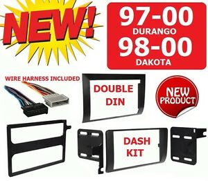 97 00 Durango 98 00 Dakota Car Radio Stereo Installation Double Din Dash Kit