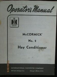 Mccormick International Harvester No 2 Hay Conditioner Operator s Manual 1959