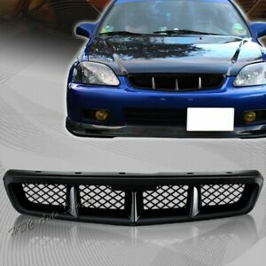 For 1999 2000 Honda Civic Mug Style Abs Black Front Hood Bumper Grille Grill