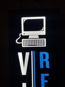 Virus Removal Sign Led Light Box Signs 12x48x1 75 Inc