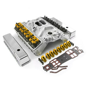 Fit Chevy Sbc 350 Angle Plug Hyd Ft Cylinder Head Top End Engine Combo Kit