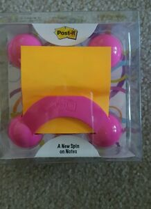 Post It Pop Up Note Dispenser Pink With Orange Notes