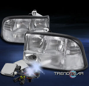 1998 2004 Gmc Sonoma 2001 Jimmy Crystal Replacement Headlight Chrome W 8000k Hid