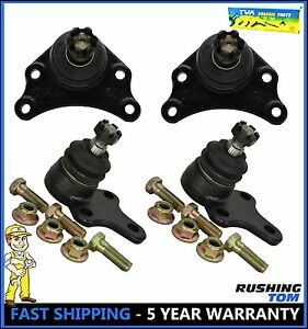 89 95 Toyota Pickup 2wd 04 05 Hilux Rwd Front Upper Lower Ball Joint 4 Pc Kit