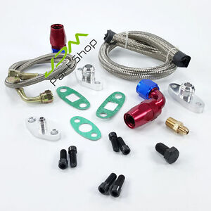 Oil Drain Return Feed Line Kit Toyota 1jzgte 2jzgte 1jz 2jz Supra Single Turbo