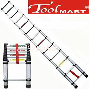 12 5ft 3 8m Folding Climb Type Aluminum Telescopic Step Ladder Purpose Extension