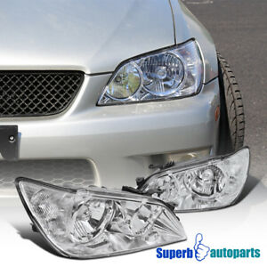 For 2001 2005 Lexus Is300 Chrome Headlights Head Lamps Replacement Clear Pair