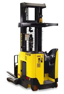 2007 Hyster N40zrs Forklift 4000lb Capacity 3 stage Mast Electric 354 Hours Usa