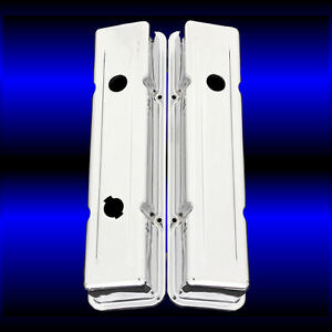 Chrome 3 Hole Valve Covers For Small Block Chevy 327 350 383 400 Factory Height