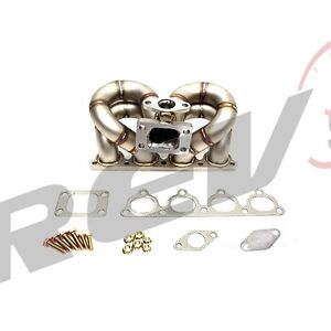 Rev9 Hp Series Honda D15 D16 Equal Length Ram Horn Sohc Vtec Turbo Manifold T3