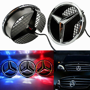 Sport Front Grille Star Emblem For Mercedes Benz 2006 2013 Illuminated Led Light