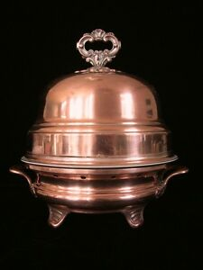 1824 1838 French Copper Dome Chafing Dish Warming Stand Hot Plate Hk Kindberg 1