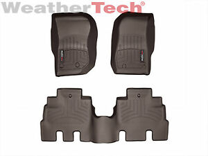 Weathertech Floor Mats Floorliner For Jeep Wrangler Unlimited 2014 2018 Cocoa