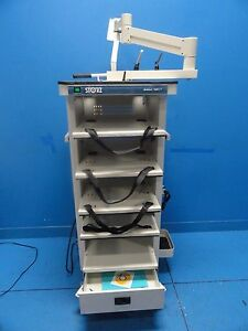 Karl Storz Gokart 9601f Video Endoscopy Cart W Arm Monitor Mount 10624