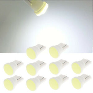 10x 1 Led Cob Smd T10 W5w Wedge Side Car Super Bright White Light Bulb Lamp 12v