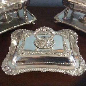 Silver Covered Serving Dish Folgate Silver Company 1875 1900 Hand Chased